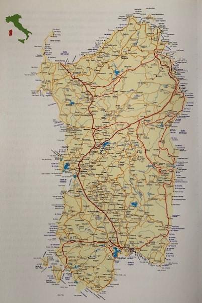 サルデーニャ島地図